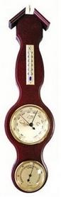 Барометр с гигрометром и термометром Moller 203056 красное дерево