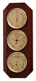 Барометр с гигрометром и термометром Moller 203176 красное дерево