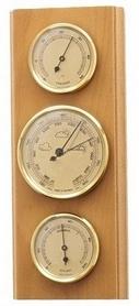 Барометр с гигрометром и термометром Moller 203803 бук