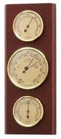 Барометр с гигрометром и термометром Moller 203804 красное дерево