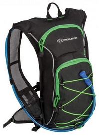 Рюкзак спортивный Highlander Kestrel 9 Hydration Pack Black/Green, 15 л