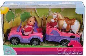 """Набор кукольный Simba Toys """"Эви и джип с трейлером и конем"""""""
