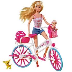 """Набор кукольный Simba Toys Steffi Love """"Штеффи с малышом на велосипеде"""""""
