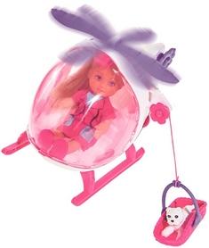 Набор кукольный Simba Toys Эви Спасательный вертолет с песиком