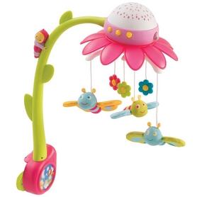 """Музыкальный мобиль-проектор Cotoons """"Цветок"""" с пультом управления Smoby Toys (розовый)"""
