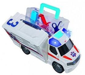 Автомобиль Dickie Toys Скорая помощь с набором врача, звуковым и световым эффектами