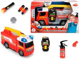 Автомобиль Dickie Toys Пожарная помощь с набором пожарного, звуковыми и световыми эффектами