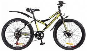 """Велосипед подростковый горный Discovery Flint 14G DD St с крылом 2018 - 24"""",  рама - 14"""", желтый (OPS-DIS-24-101)"""