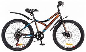 """Велосипед подростковый горный Discovery Flint 14G DD с крылом 2018 - 24"""",  рама - 14"""", красный (OPS-DIS-24-100)"""