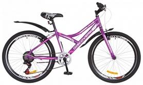 """Велосипед подростковый горный Discovery Flint 14G Vbr с крылом 2018 - 24"""",  рама - 14"""", фиолетовый (OPS-DIS-24-087)"""