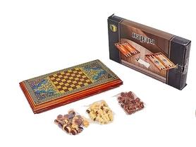 Набор настольных игр 2 в 1 деревянный (нарды, шахматы) BAKU XLY740-B, 42 x 46 см