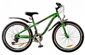 """Велосипед подростковый горный Discovery Flint AM 14G DD St 2018 - 24"""", рама - 13"""", зеленый (OPS-DIS-24-079)"""