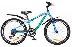 """Велосипед подростковый горный Discovery Flint AM 14G DD St 2018 - 24"""", рама - 13"""", синий (OPS-DIS-24-078)"""