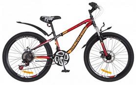 """Велосипед подростковый горный Discovery Flint AM 14G DD St 2018 - 24"""", рама - 13"""", оранжевый (OPS-DIS-24-076)"""
