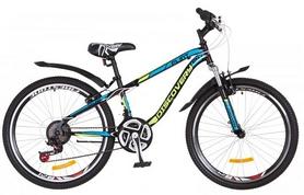 """Велосипед подростковый горный Discovery Flint AM 14G DD St 2018 - 24"""", рама - 13"""", салатовый (OPS-DIS-24-077)"""