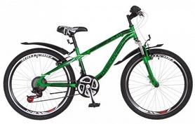 """Велосипед подростковый горный Discovery Flint AM 14G DD St с крылом Pl 2018 - 24"""", рама - 13"""", зеленый (OPS-DIS-24-091)"""