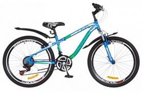 """Велосипед подростковый горный Discovery Flint AM 14G DD St с крылом Pl 2018 - 24"""", рама - 13"""", синий (OPS-DIS-24-090)"""