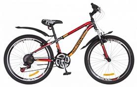 """Велосипед подростковый горный Discovery Flint AM 14G DD St с крылом Pl 2018 - 24"""", рама - 13"""", красный (OPS-DIS-24-088)"""