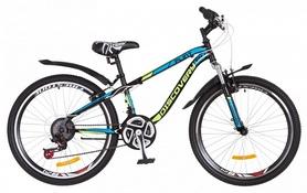 """Велосипед подростковый горный Discovery Flint AM 14G DD St с крылом Pl 2018 - 24"""", рама - 13"""", салатовый (OPS-DIS-24-089)"""