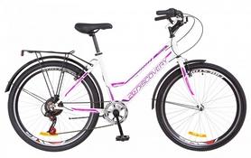 """Велосипед городской Discovery Prestige Woman с крылом Pl 2018 - 26"""", рама - 17"""", бело-фиолетовый (OPS-DIS-26-140)"""