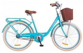 """Велосипед городской Dorozhnik LUX 14G St с багажником и корзиной 2018 - 26"""", рама - 17"""", голубой"""