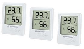Комплект термометр-гигрометр Bresser Temeo Hygro Indicator White, 3 шт