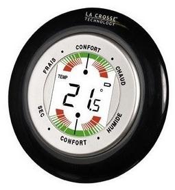 Термометр-гигрометр La Crosse WT138-B-BLI, черный