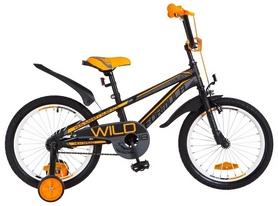 """Велосипед детский Formula Wild St 2018 - 18"""", рама - 9"""", черно-оранжевый (OPS-FRK-18-025)"""