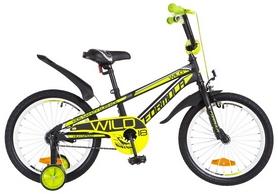 """Велосипед детский Formula Wild St 2018 - 18"""", рама - 9"""", черно-салатовый (OPS-FRK-18-023)"""