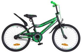 """Велосипед детский Formula Rасе St 2018 - 20"""", рама - 10,5"""", черно-салатовый"""