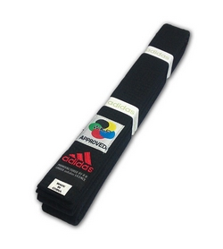 Пояс для кимоно Adidas WKF Approved черный - 280 см
