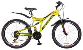 """Велосипед горный Formula Safari AM2 14G Vbr St 2018 - 26"""", рама - 18"""", салатово-оранжевый (OPS-FR-26-246)"""