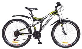 """Велосипед горный Formula Safari AM2 14G Vbr St 2018 - 26"""", рама - 18"""", черно-салатовый (OPS-FR-26-245)"""