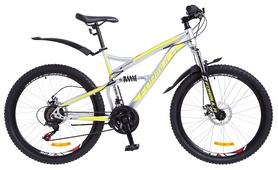 """Велосипед горный Formula X-Rover AM2 14G DD St 2018 - 26"""", рама - 19"""", серо-желтый"""