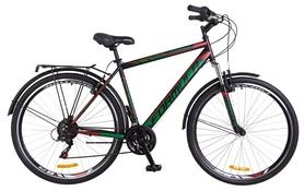 """Велосипед городской Formula Horizont AM 2018 - 28"""", рама - 20,5"""", черно-зеленый с красным (OPS-FR-28-009)"""