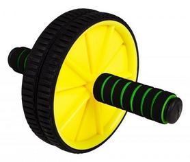 Ролик для пресса двойной Hop-Sport желтый