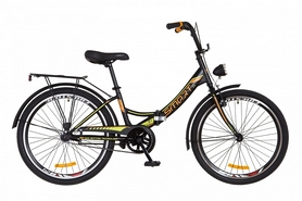"""Велосипед подростковый Formula Smart 14G Vbr St с багажником и фонарём 2018 - 24"""", рама - 15"""", черно-оранжевый (OPS-FR-24-112)"""