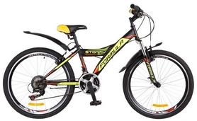 """Велосипед подростковый Formula Stormy AM 14G Vbr St 2018 - 24"""", рама - 13"""", черно-желтый (OPS-FR-24-116)"""