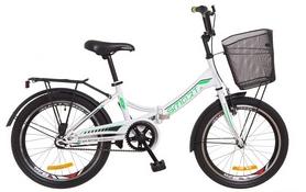 """Велосипед подростковый Formula Smart 14G St с багажником и корзиной 2018 - 20"""", рама - 13"""", бело-зеленый (OPS-FR-20-029)"""