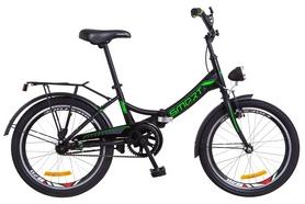 """Велосипед подростковый Formula Smart 14G St с багажником и фонарём 2018 - 20"""", рама - 13"""", черно-зеленый (OPS-FR-20-032)"""