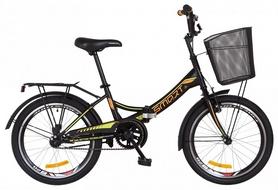 """Велосипед подростковый Formula Smart 14G St с багажником и корзиной 2018 - 20"""", рама - 13"""", черно-оранжевый (OPS-FR-20-031)"""