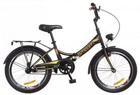 """Велосипед подростковый Formula Smart 14G St с багажником и фонарём 2018 - 20"""", рама - 13"""", черно-оранжевый (OPS-FR-20-035)"""