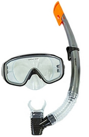 Набор для плавания ZLT (маска + трубка) серый