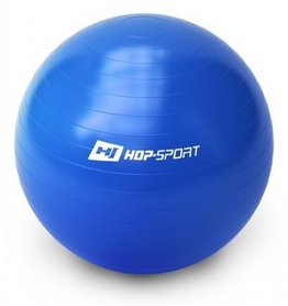 Мяч для фитнеса (фитбол) с насосом Hop-Sport синий, 65 см