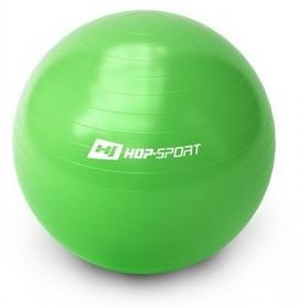 Мяч для фитнеса (фитбол) с насосом Hop-Sport зеленый, 65 см