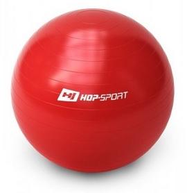 Мяч для фитнеса (фитбол) с насосом Hop-Sport красный, 65 см