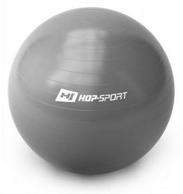 Мяч для фитнеса (фитбол) с насосом Hop-Sport серый, 65 см