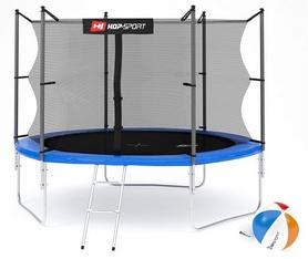 Батут с внутренней сеткой 3 ноги Hop-Sport 10ft синий, 305 см