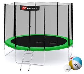 Батут с внешней сеткой 4 ноги Hop-Sport 10ft зеленый, 305 см