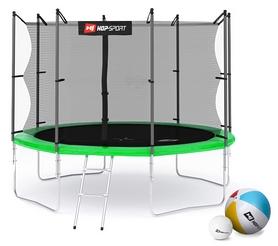 Батут с внутренней сеткой 4 ноги Hop-Sport 10ft зеленый, 305 см